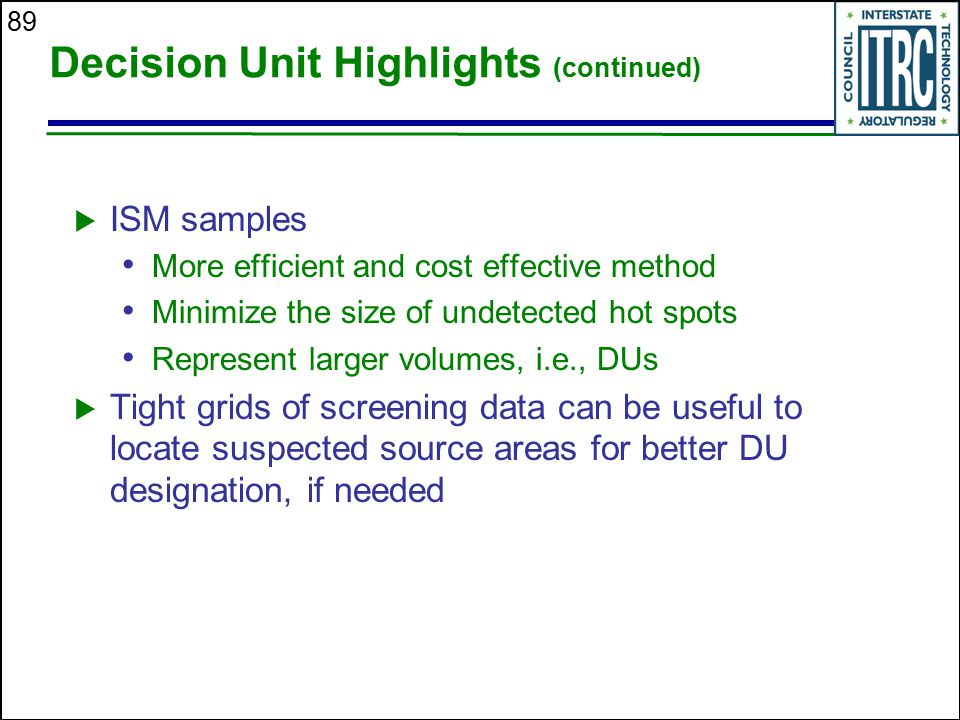 Decision Unit Highlights (continued)