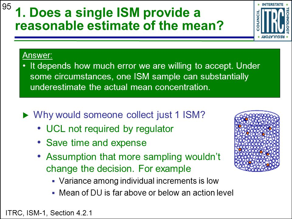 1. Does a single ISM provide a reasonable estimate of the mean