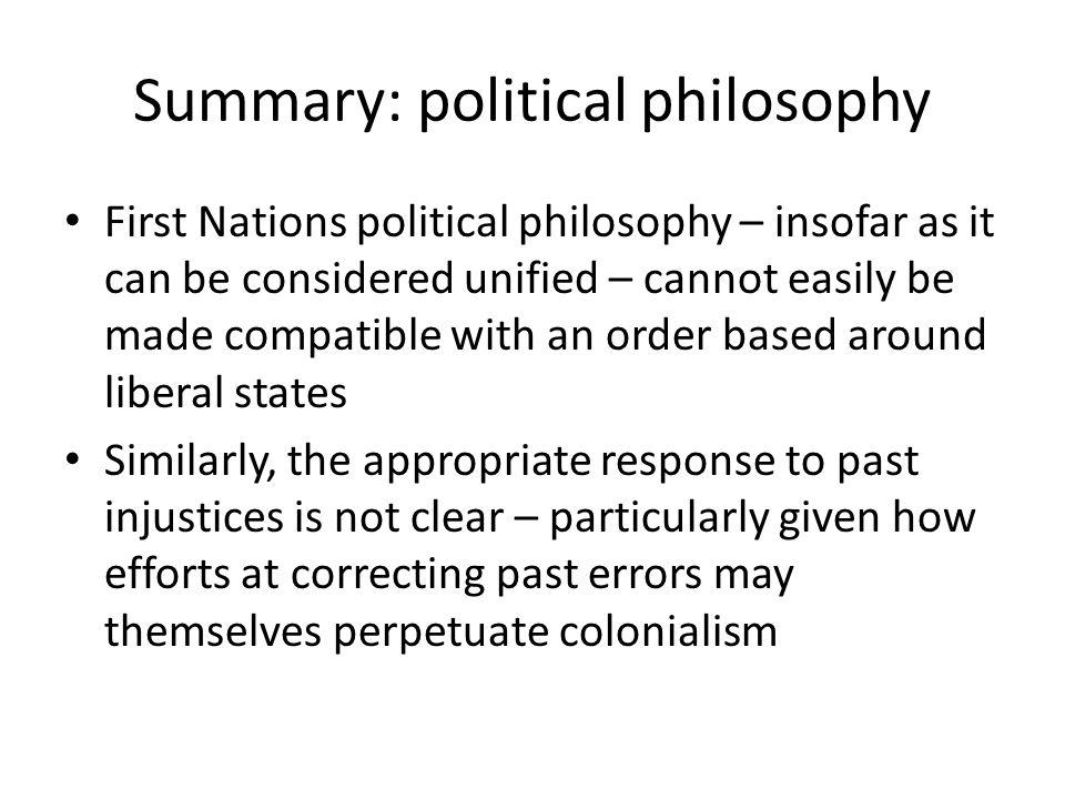 Summary: political philosophy