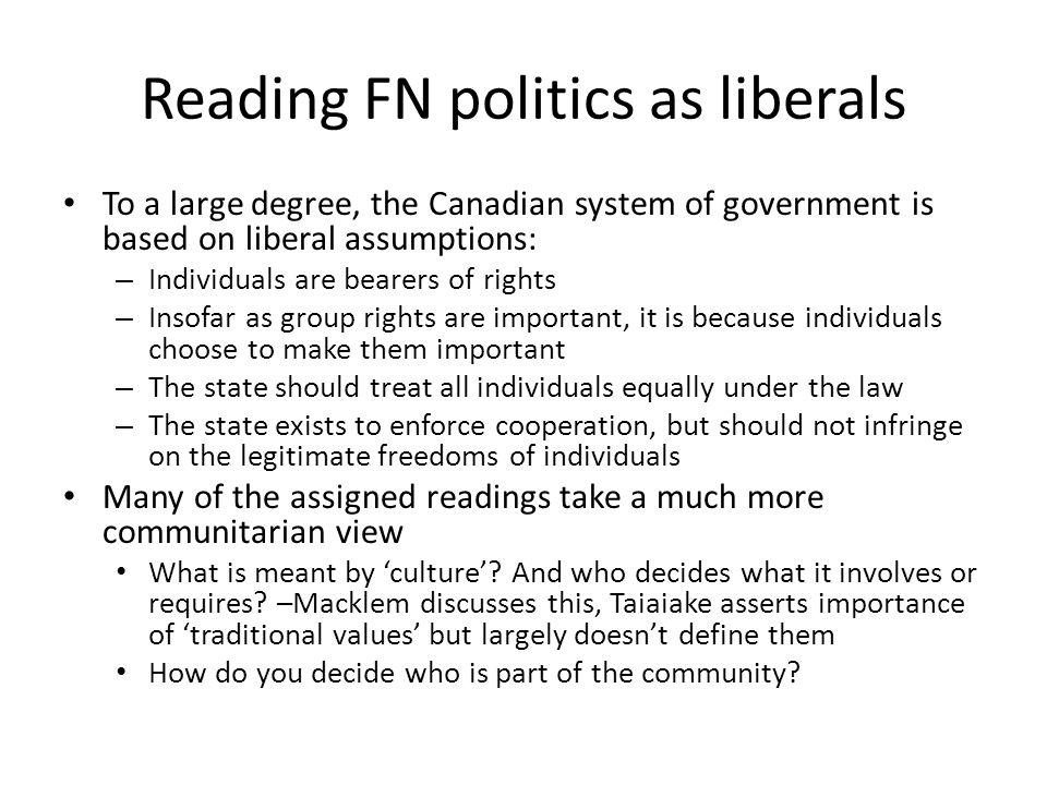 Reading FN politics as liberals