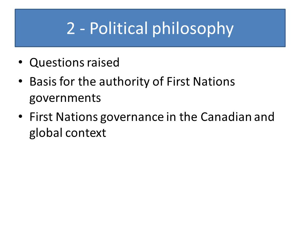 2 - Political philosophy