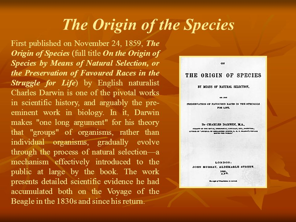 The Origin of the Species