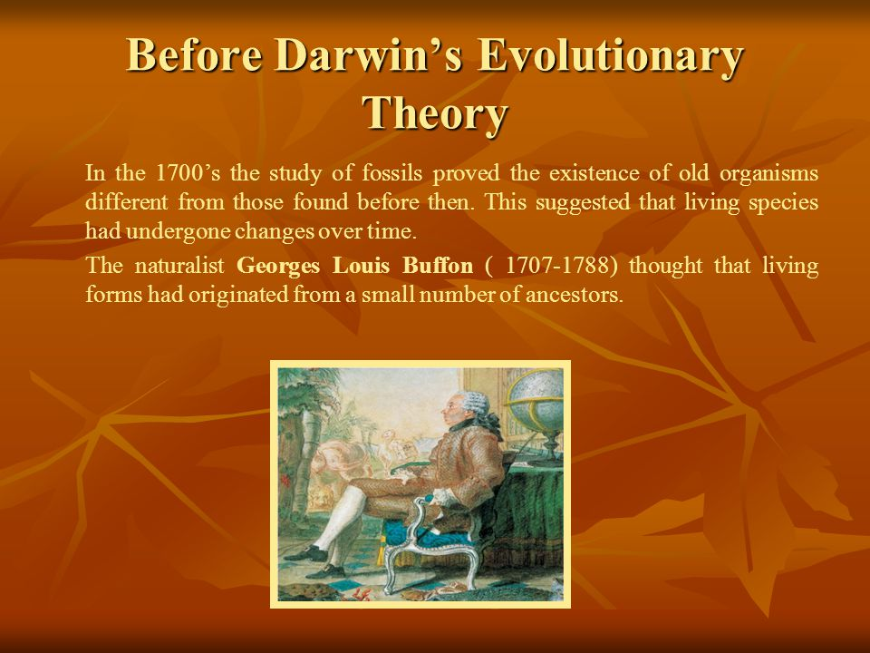 Before Darwin's Evolutionary Theory