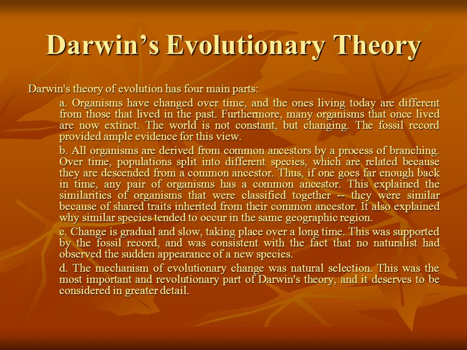 Darwin's Evolutionary Theory