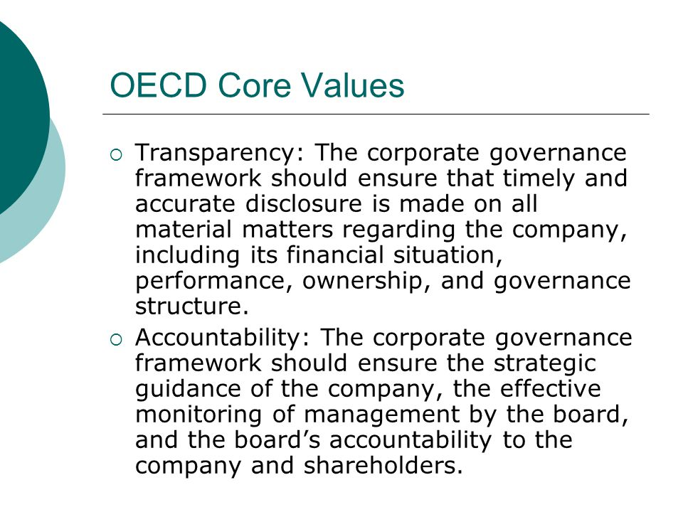 OECD Core Values