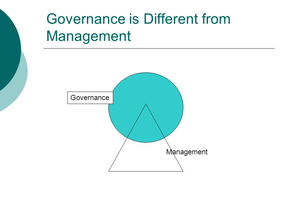 Governance is Different from Management