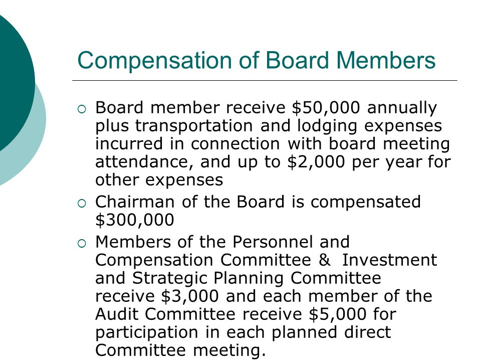 Compensation of Board Members