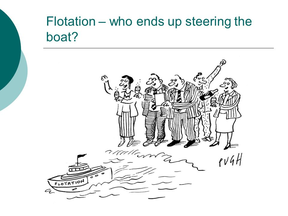 Flotation – who ends up steering the boat