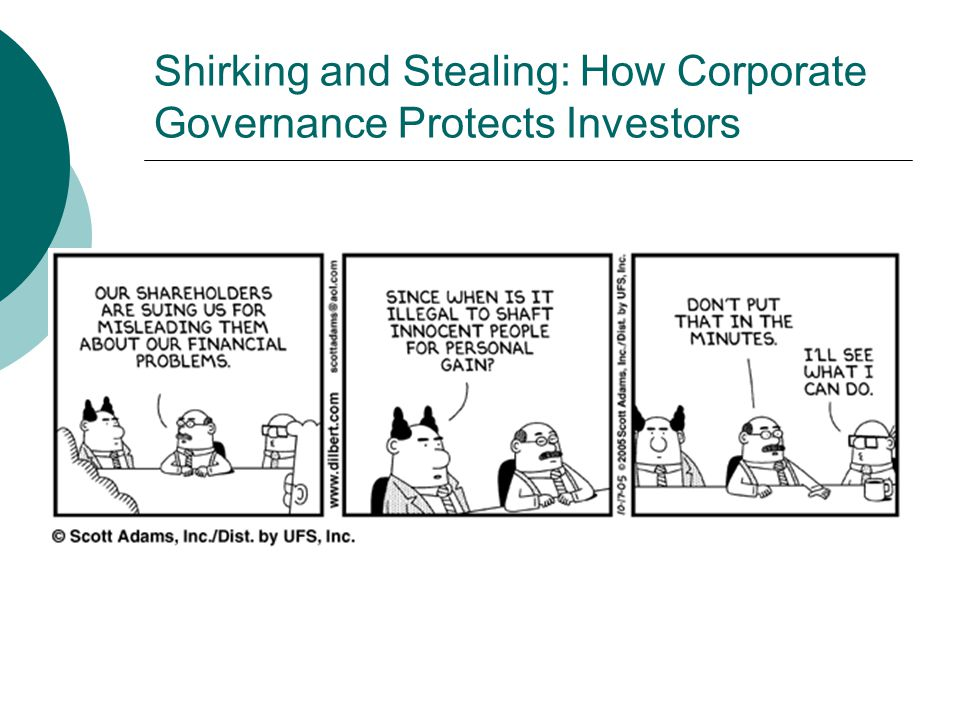 Shirking and Stealing: How Corporate Governance Protects Investors