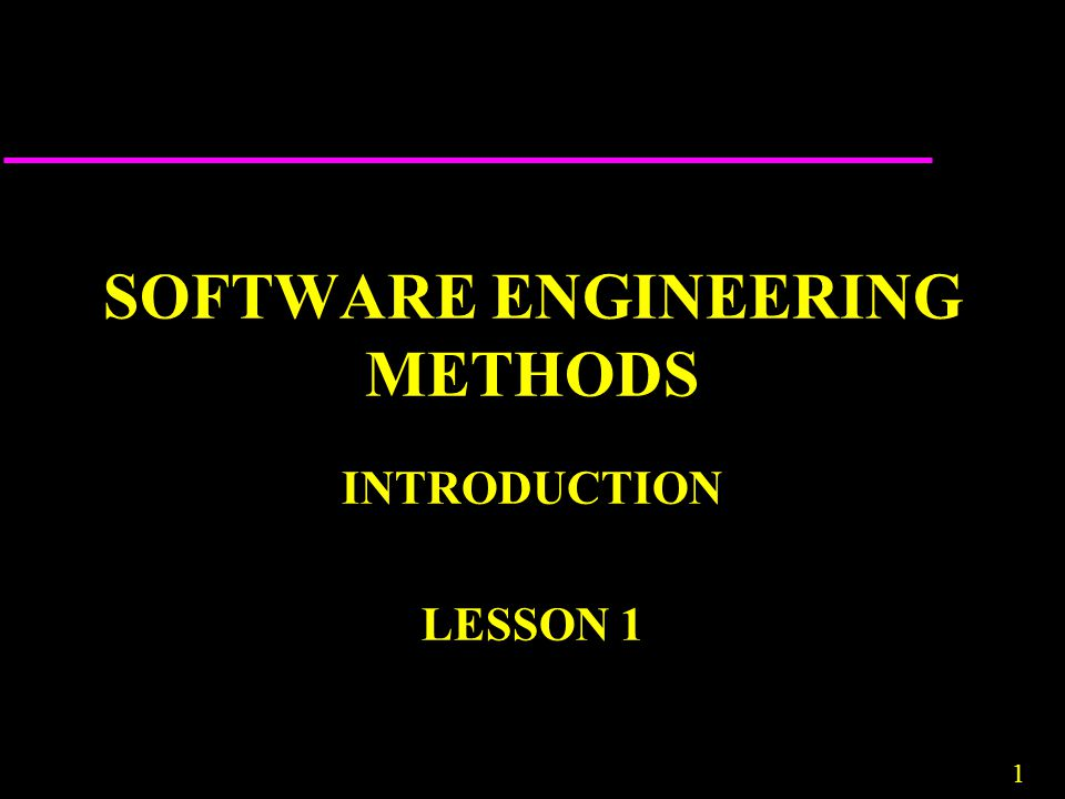SOFTWARE ENGINEERING METHODS