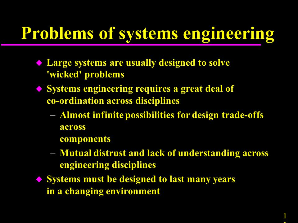 Problems of systems engineering