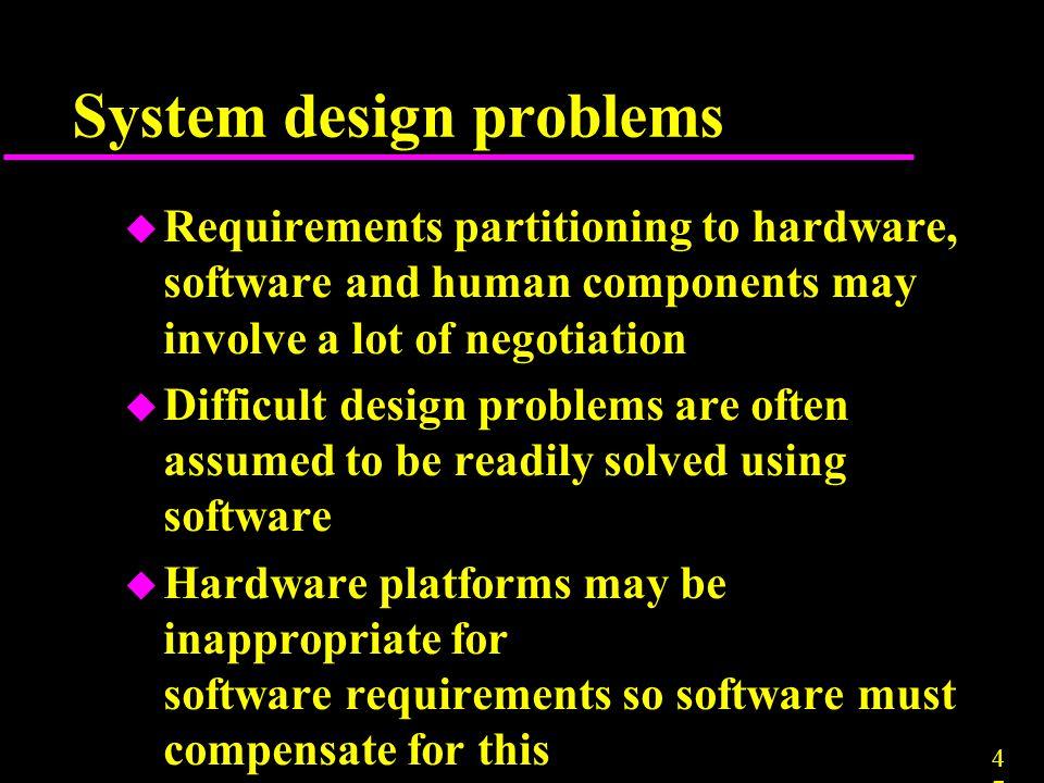 System design problems