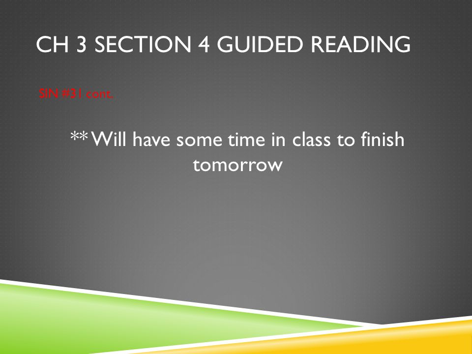 Ch 3 section 4 guided reading