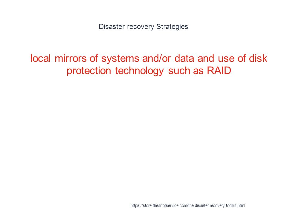 Disaster recovery Strategies