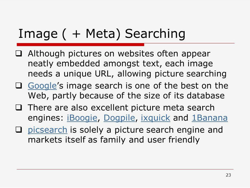 Image ( + Meta) Searching