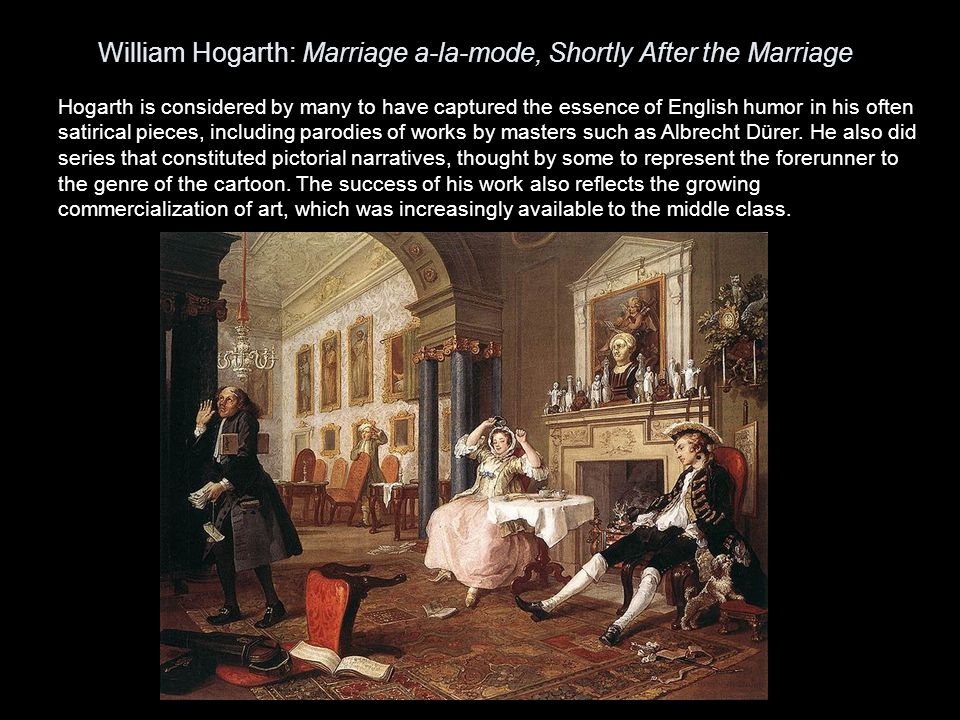 William Hogarth: Marriage a-la-mode, Shortly After the Marriage