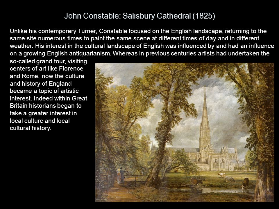 John Constable: Salisbury Cathedral (1825)