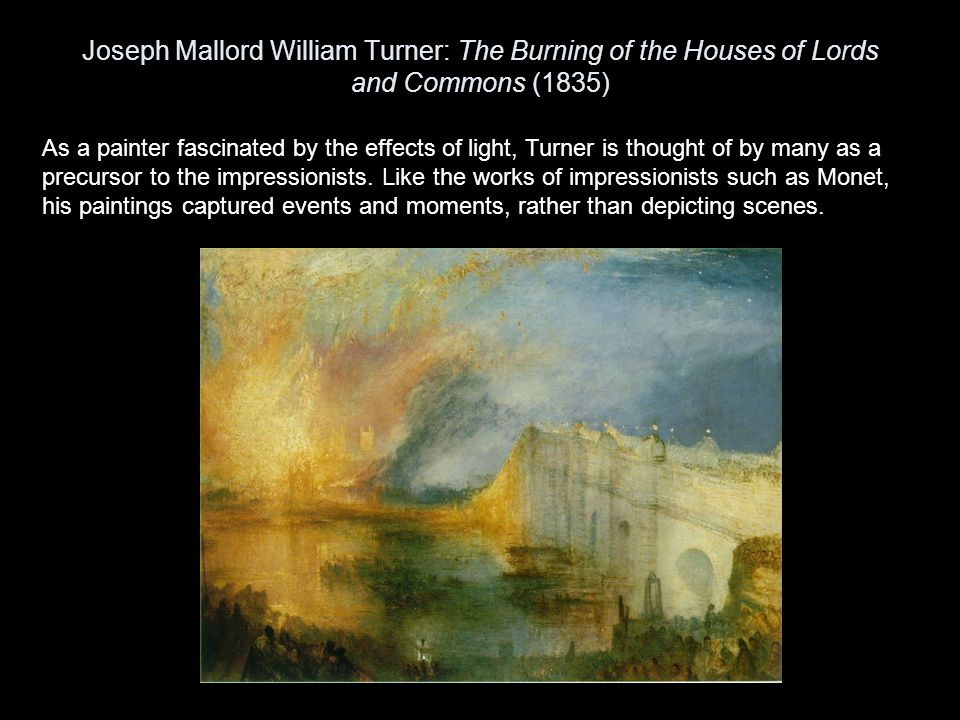 Joseph Mallord William Turner: The Burning of the Houses of Lords and Commons (1835)