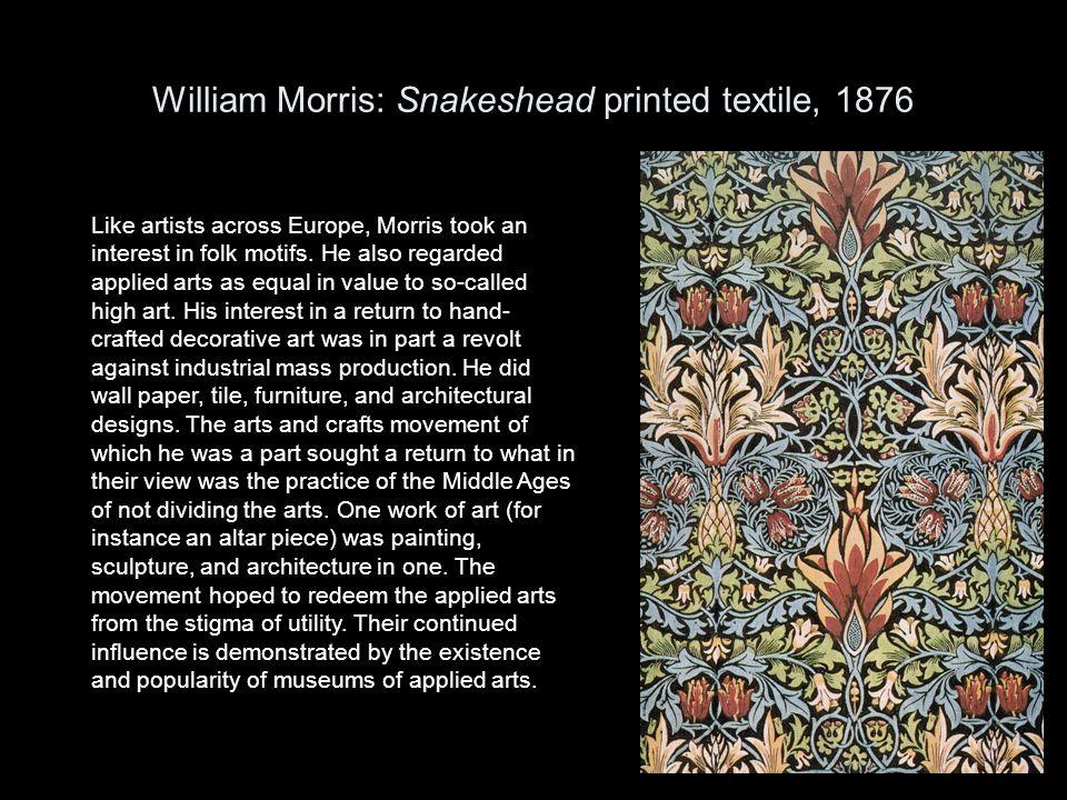 William Morris: Snakeshead printed textile, 1876