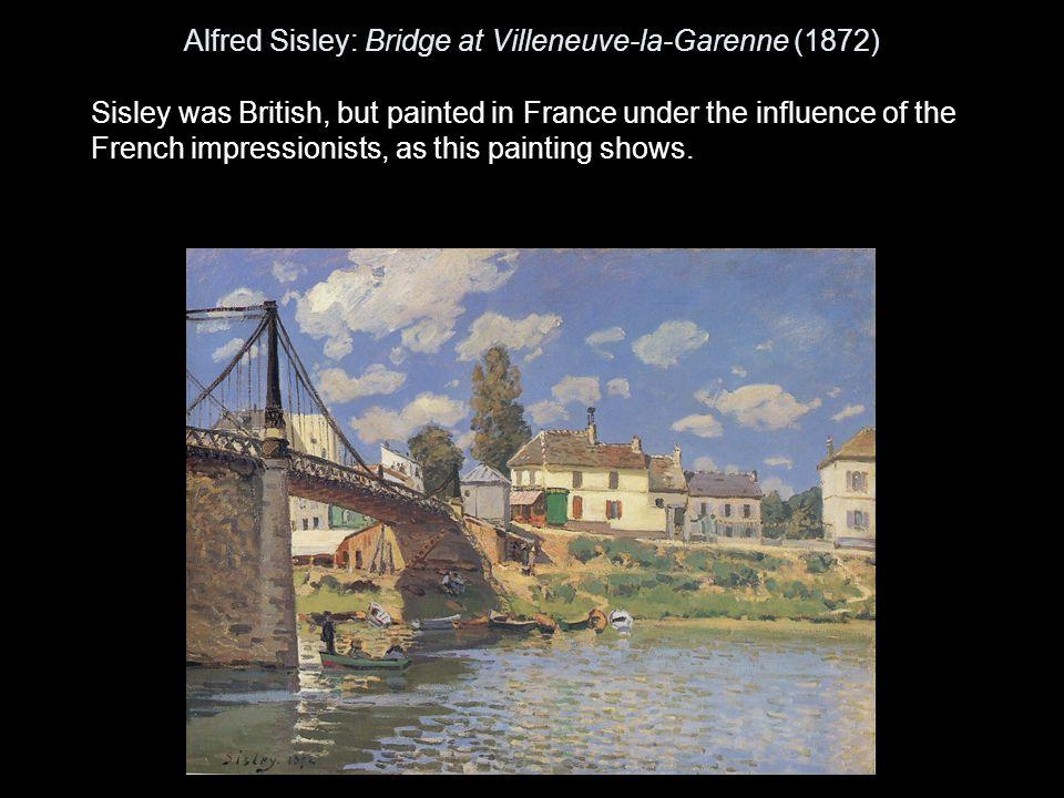 Alfred Sisley: Bridge at Villeneuve-la-Garenne (1872)