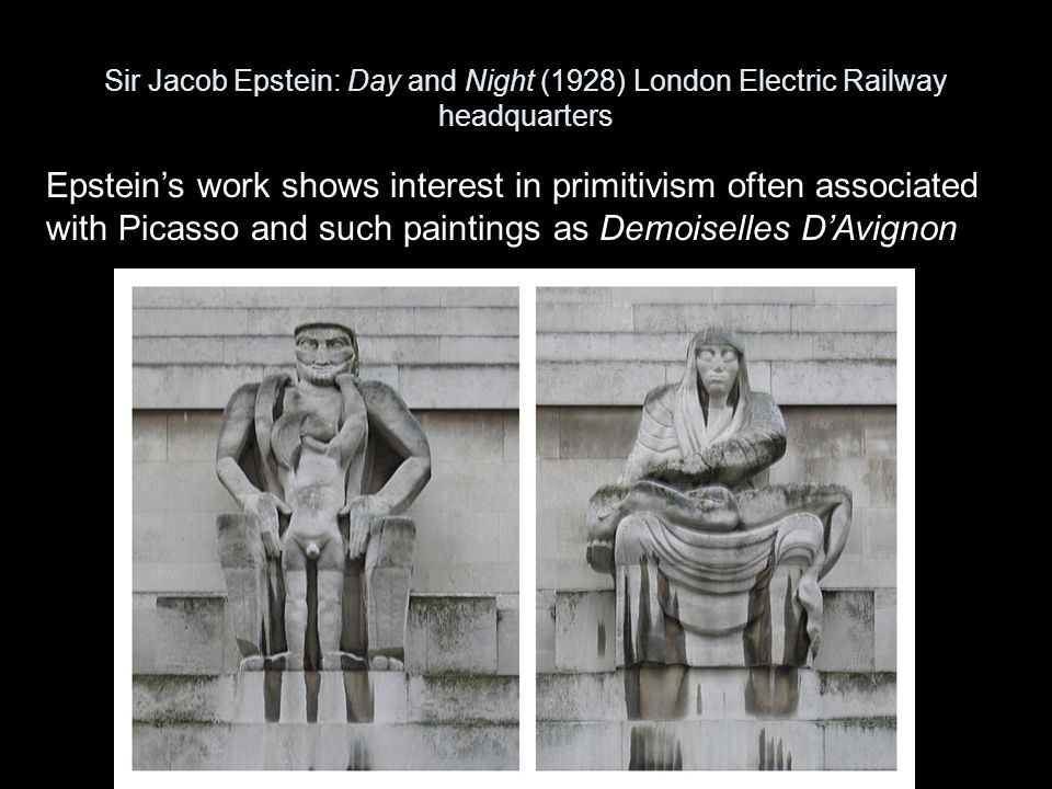 Sir Jacob Epstein: Day and Night (1928) London Electric Railway headquarters