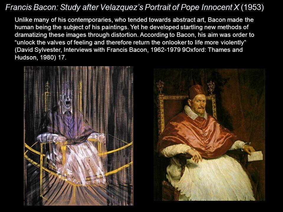 Francis Bacon: Study after Velazquez's Portrait of Pope Innocent X (1953)