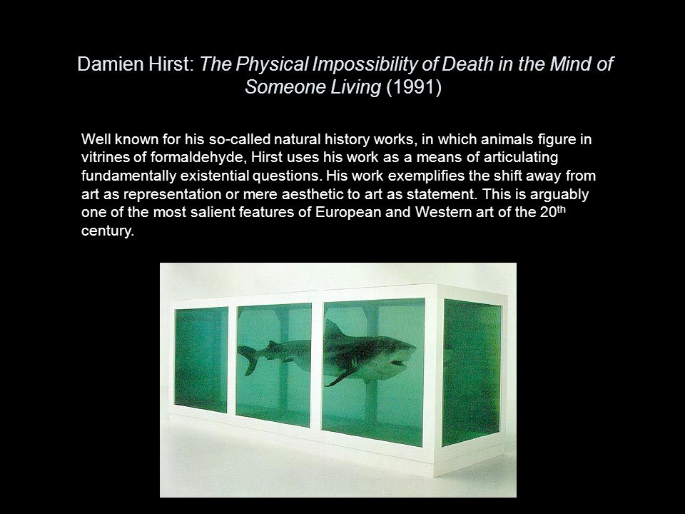 Damien Hirst: The Physical Impossibility of Death in the Mind of Someone Living (1991)