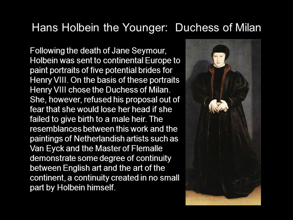 Hans Holbein the Younger: Duchess of Milan