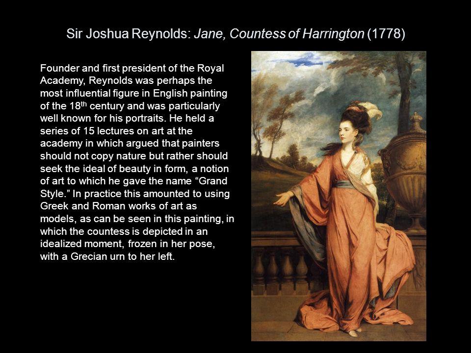 Sir Joshua Reynolds: Jane, Countess of Harrington (1778)