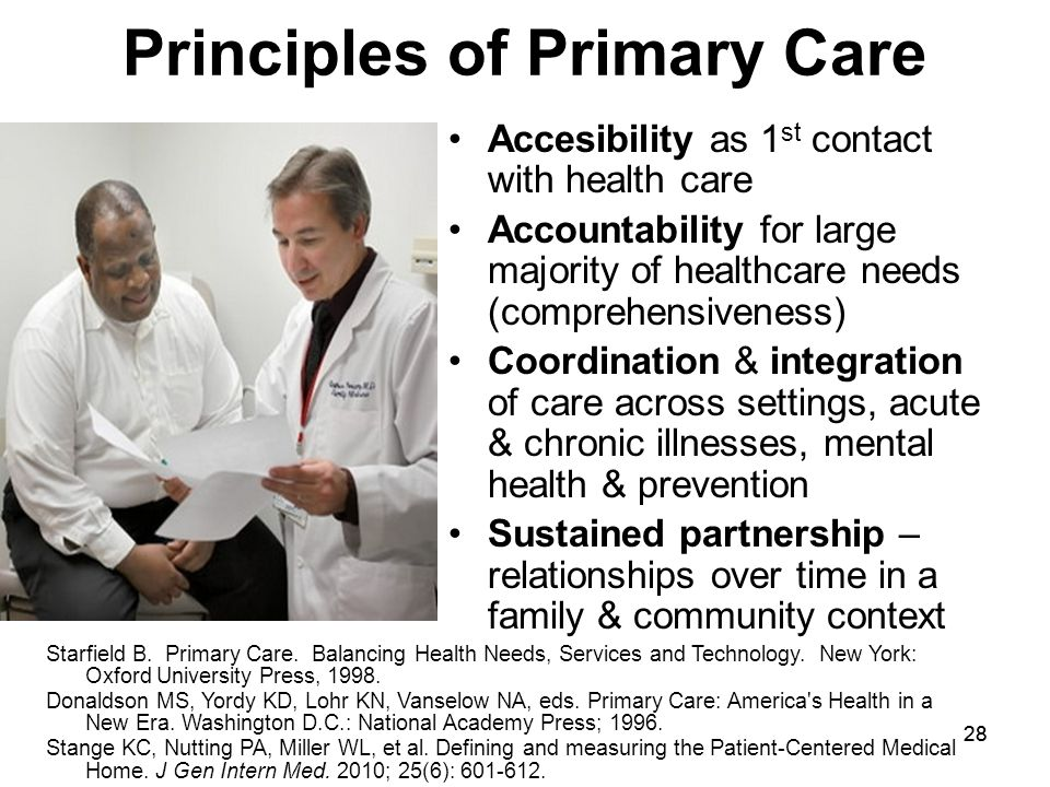 Principles of Primary Care