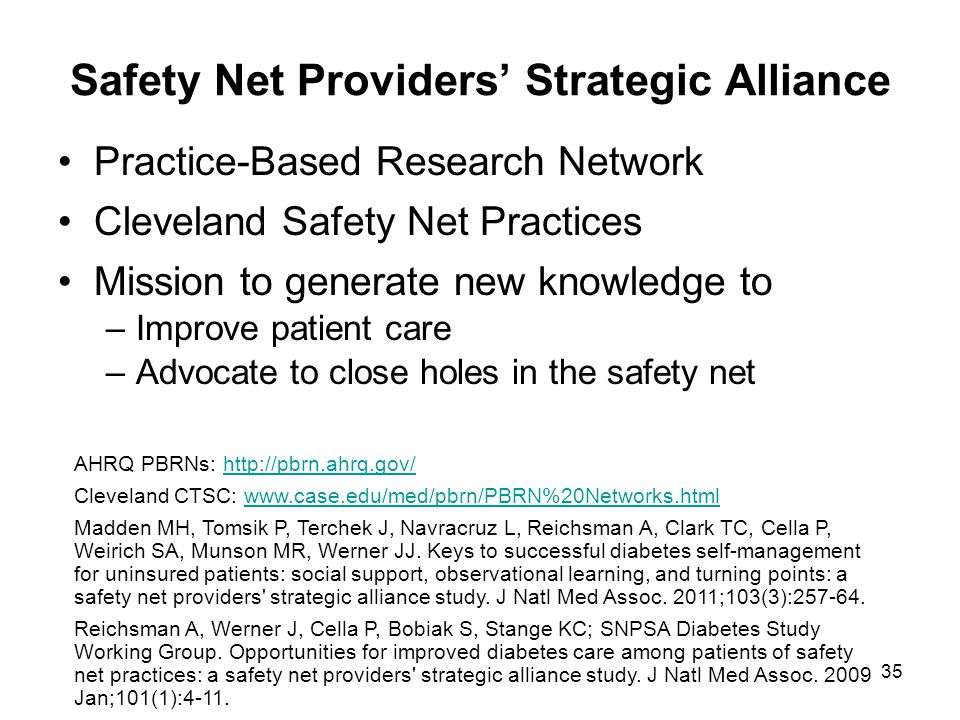 Safety Net Providers' Strategic Alliance
