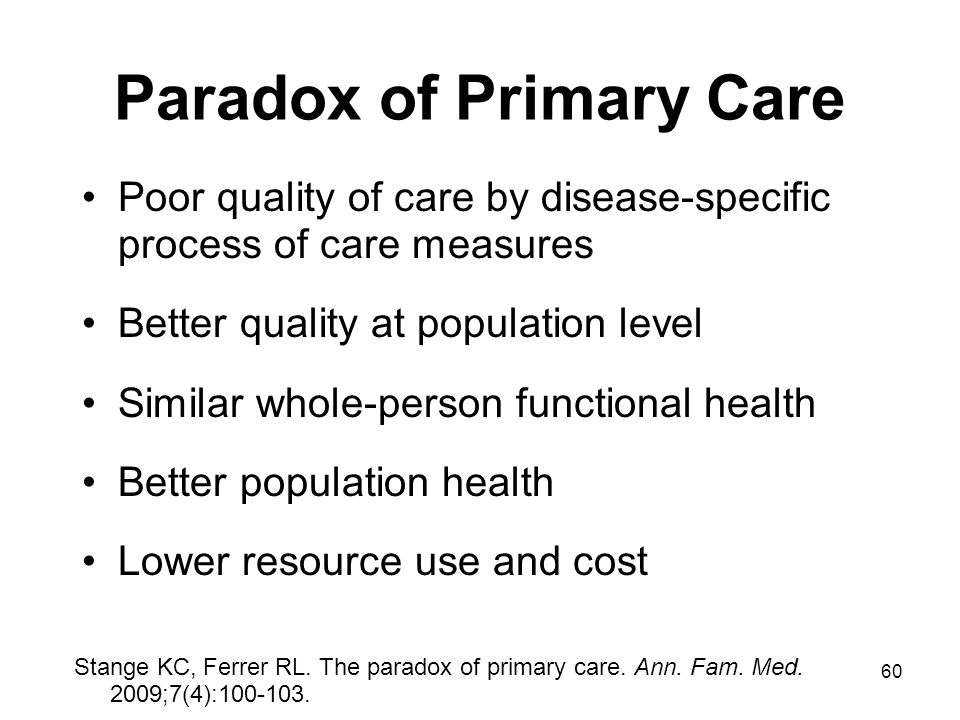 Paradox of Primary Care