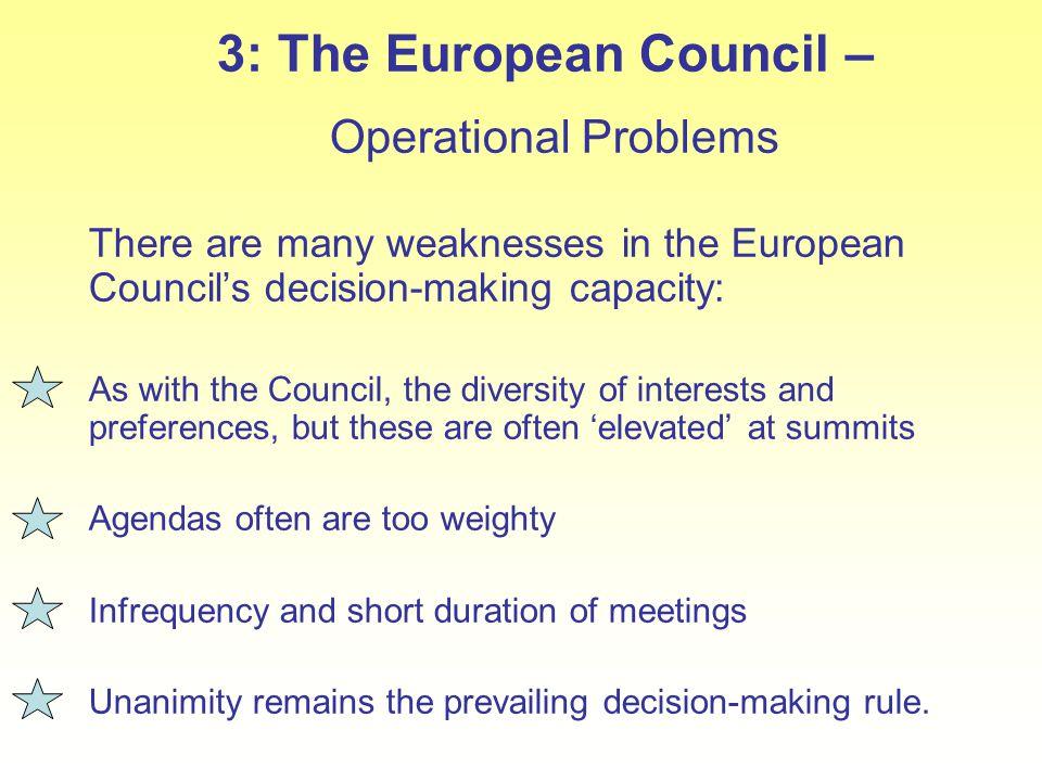 3: The European Council –