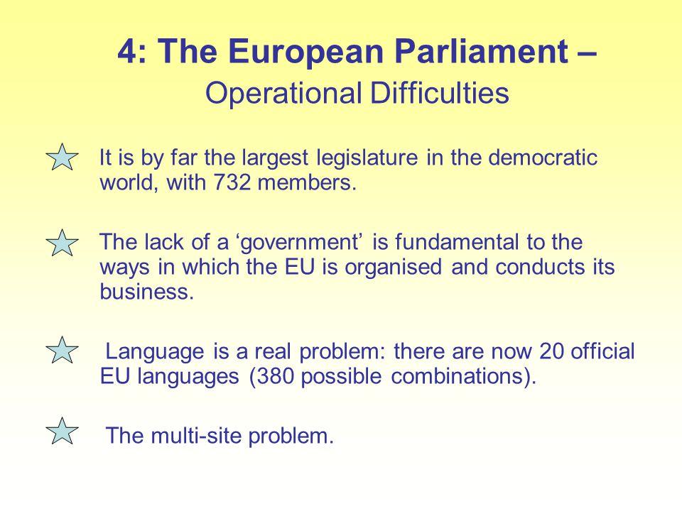 4: The European Parliament –