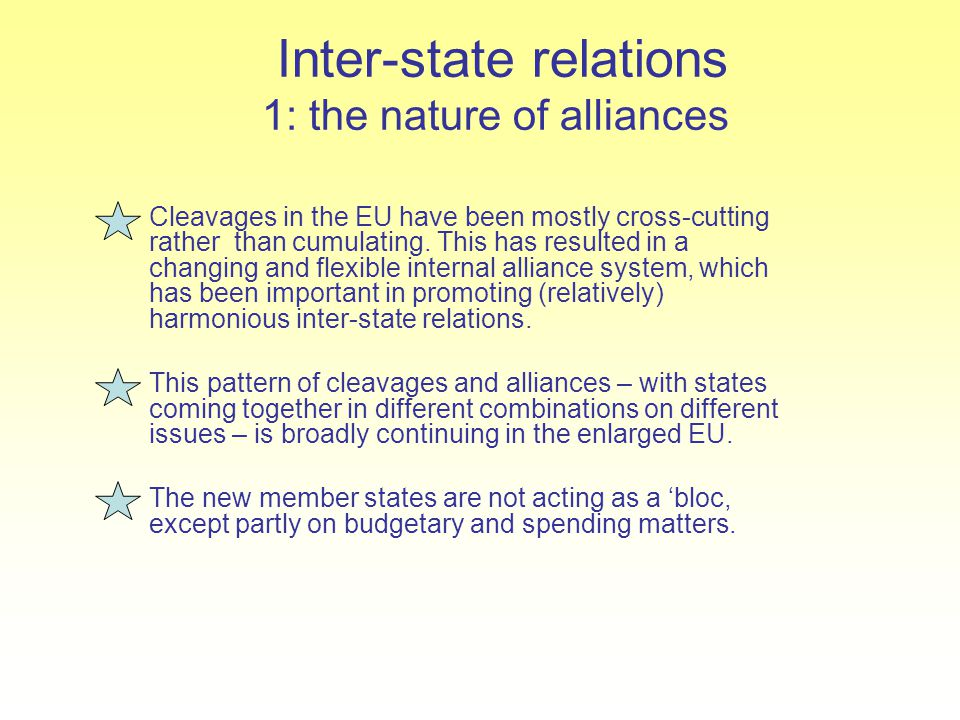 Inter-state relations 1: the nature of alliances