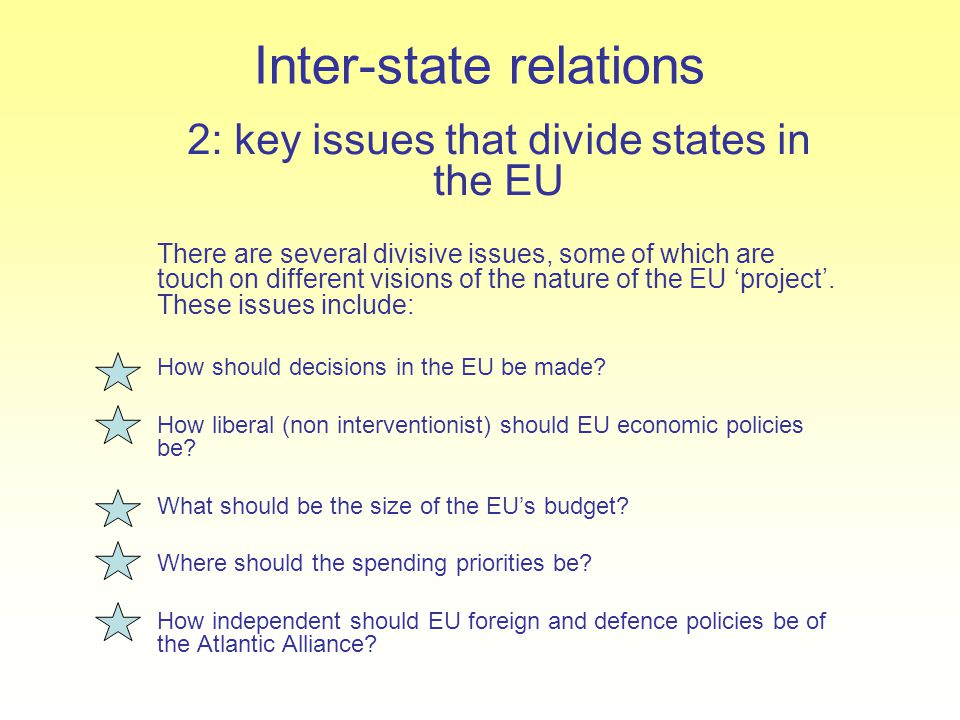 Inter-state relations