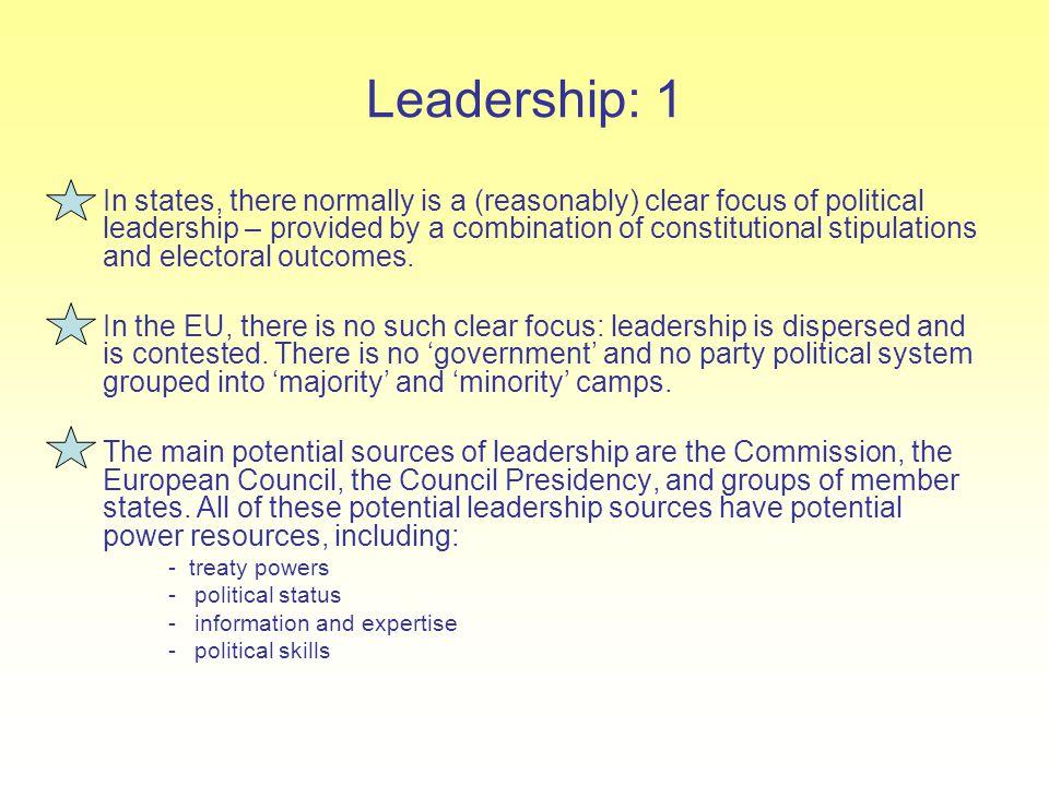 Leadership: 1