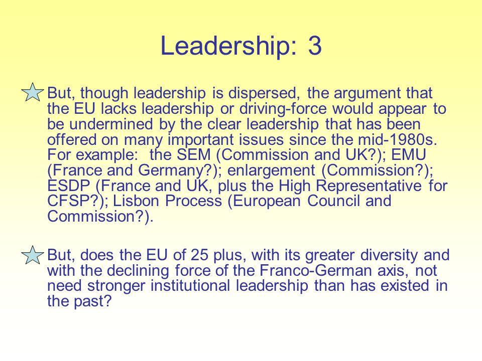 Leadership: 3