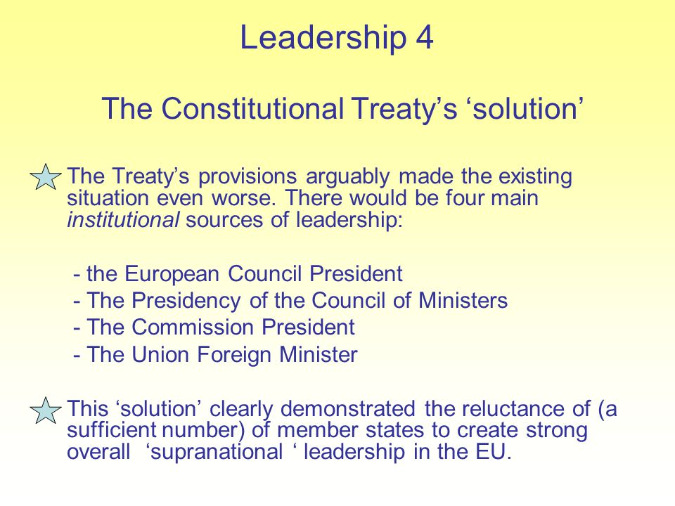 The Constitutional Treaty's 'solution'