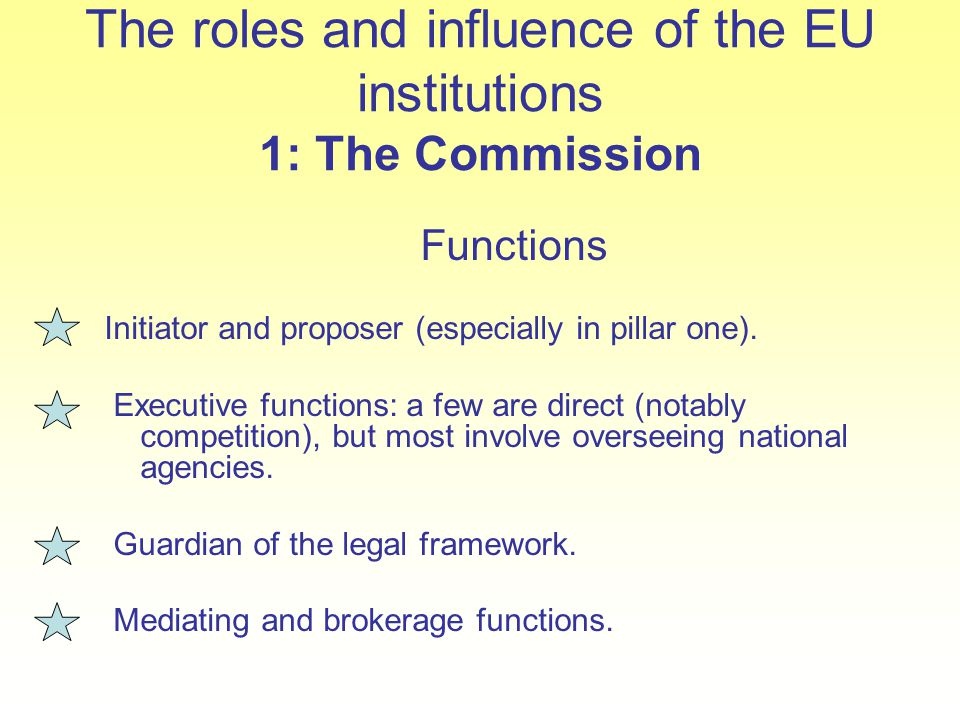 The roles and influence of the EU institutions 1: The Commission