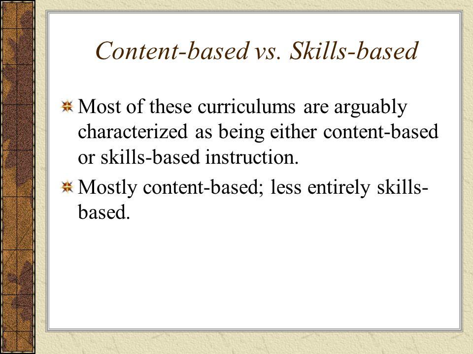 Content-based vs. Skills-based