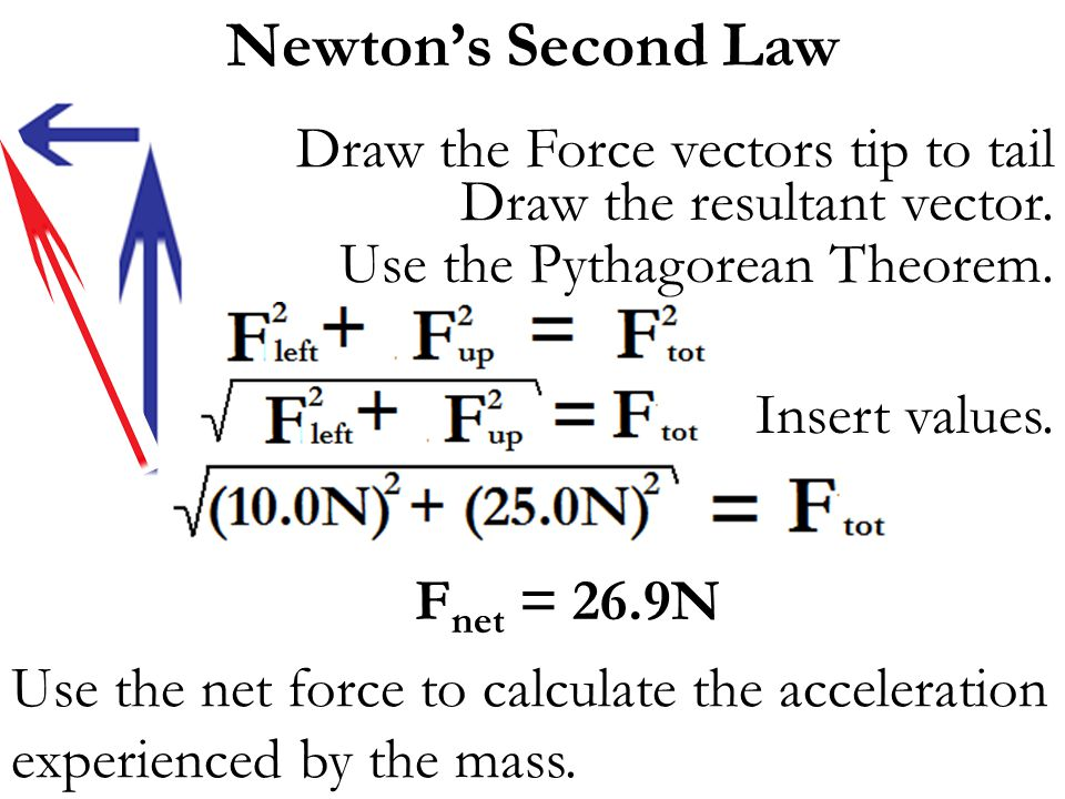 Newton's Second Law Draw the Force vectors tip to tail