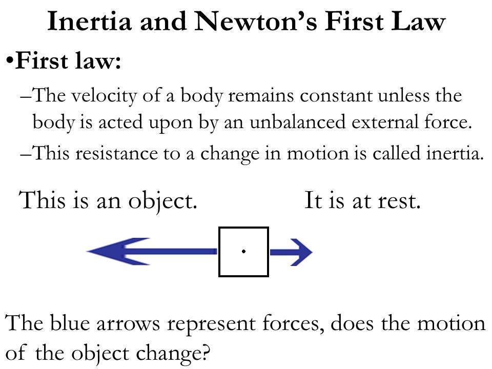 Inertia and Newton's First Law