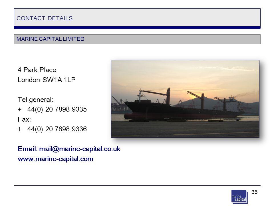 4 Park Place London SW1A 1LP Tel general: + 44(0) 20 7898 9335 Fax: