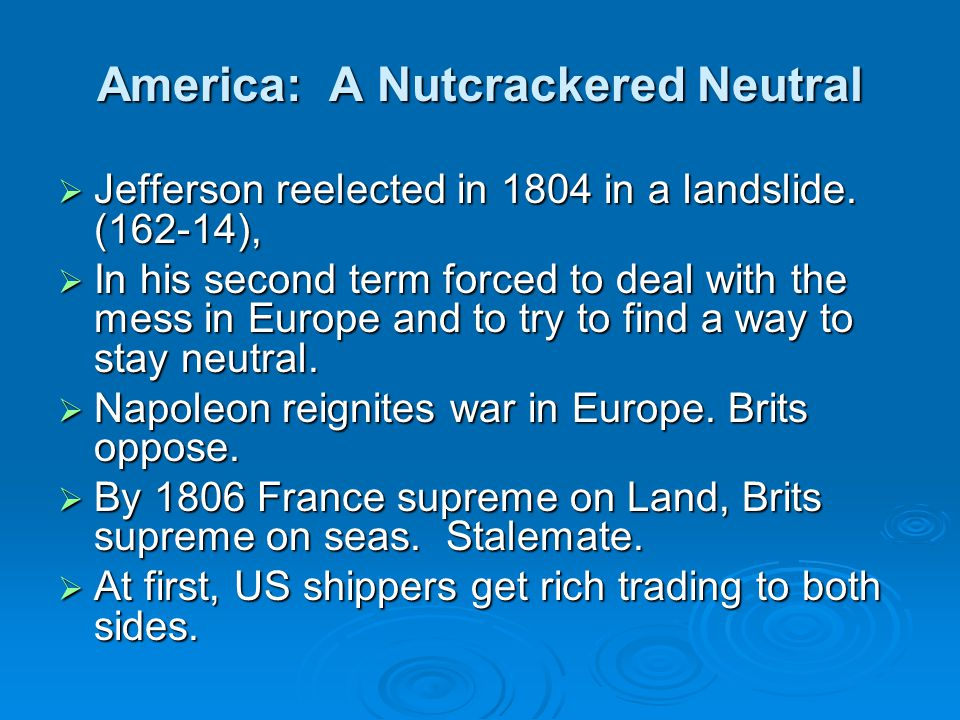 America: A Nutcrackered Neutral