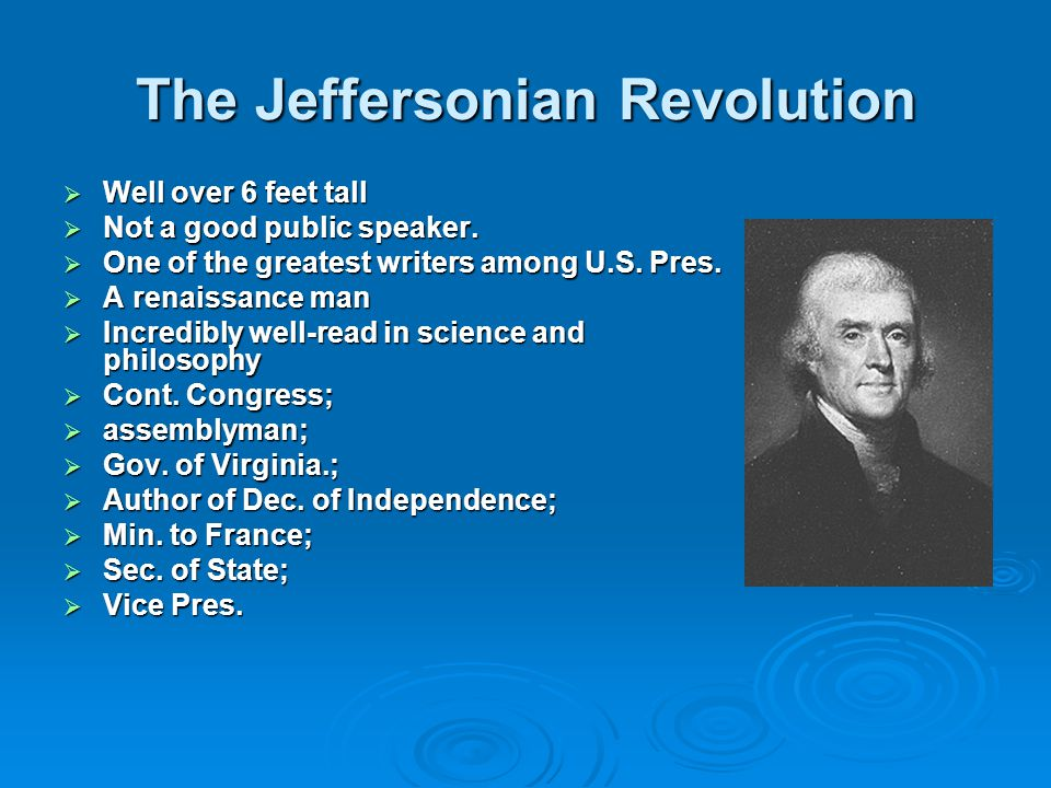 The Jeffersonian Revolution