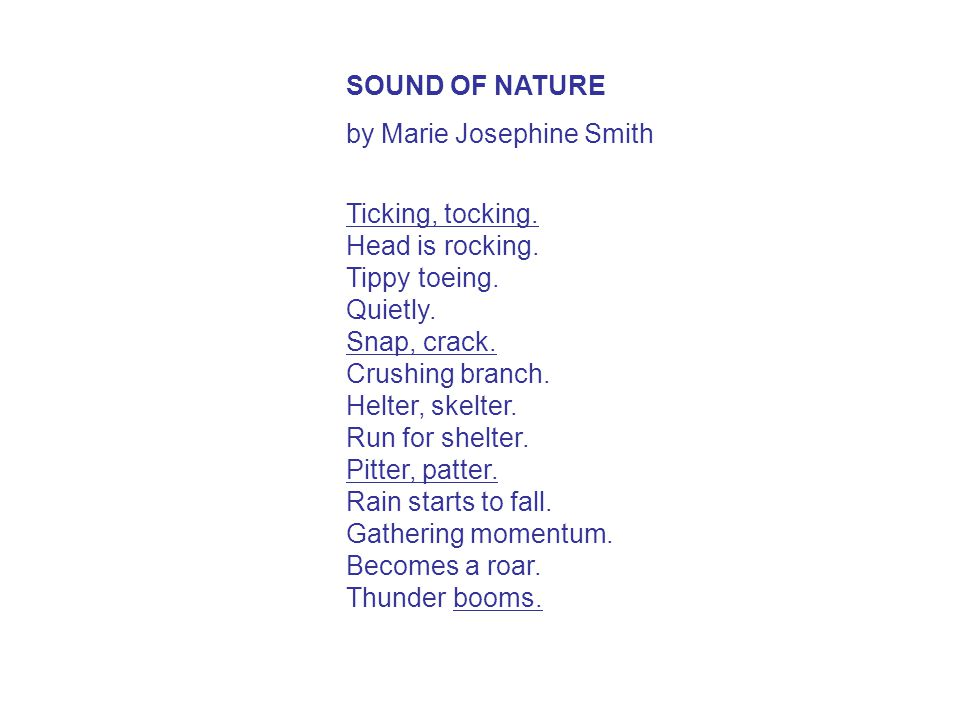 SOUND OF NATURE by Marie Josephine Smith.