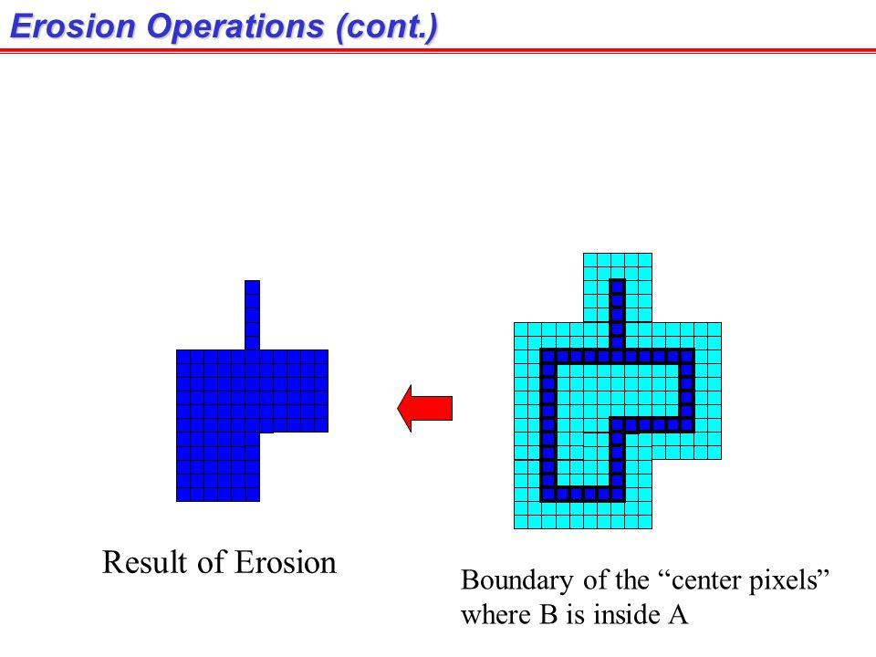 Erosion Operations (cont.)