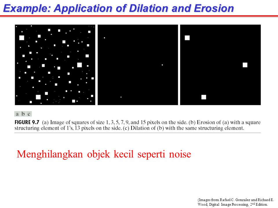 Example: Application of Dilation and Erosion