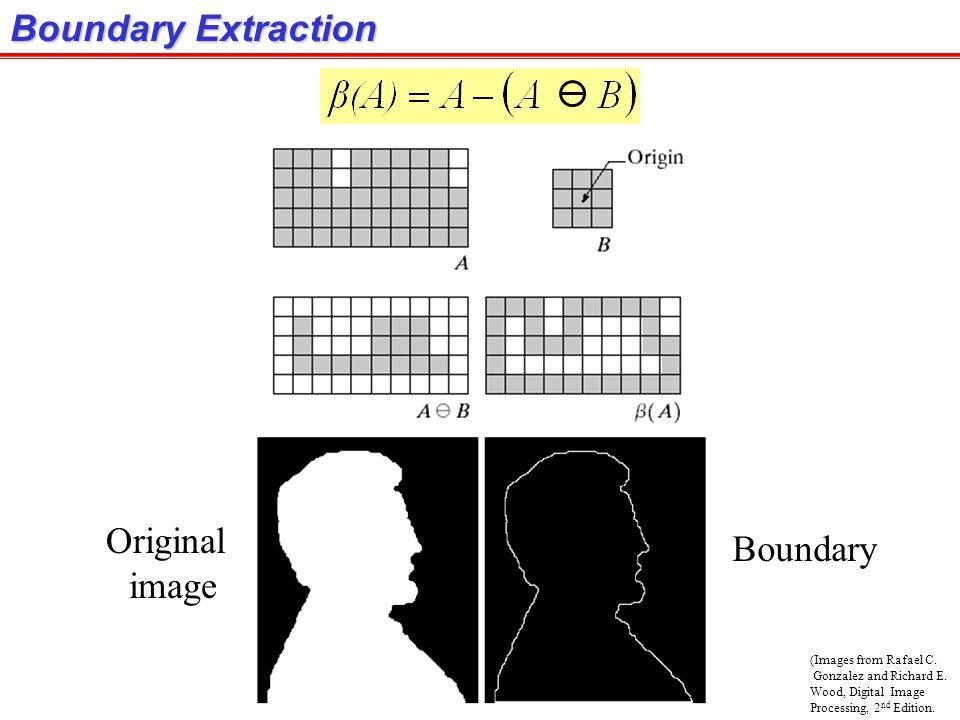 Boundary Extraction Original Boundary image (Images from Rafael C.